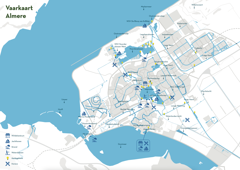 Vaarkaart Almere - BOEI2 Almere